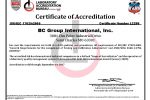 BC Group Certificate of Accreditation